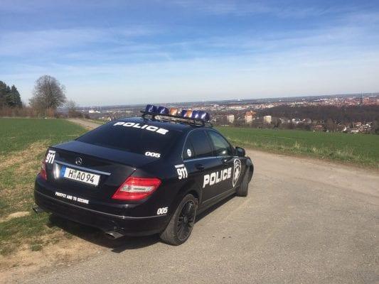 Police Car Aufkleber Sticker USA Autoaufkleber