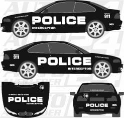 Police car wrap, Police Aufkleber, Police Design, Autoaufkleber, Sticker