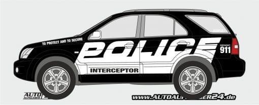 Police car wrap, Police Aufkleber, Police Design, Autoaufkleber, SUV
