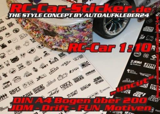 RC CAR Aufkleber Sticker Folien Bögen Design Modellbau