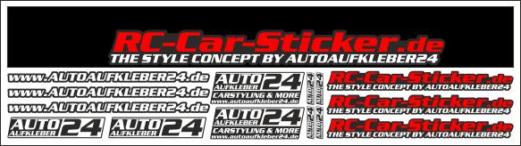 Rc Car A24 Sponsoren Sticker M 110
