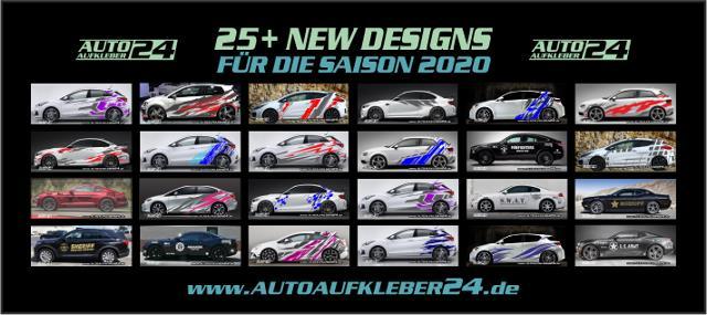 Autoaufkleber Aufkleber für die Saison 2020 Carwrapfolie