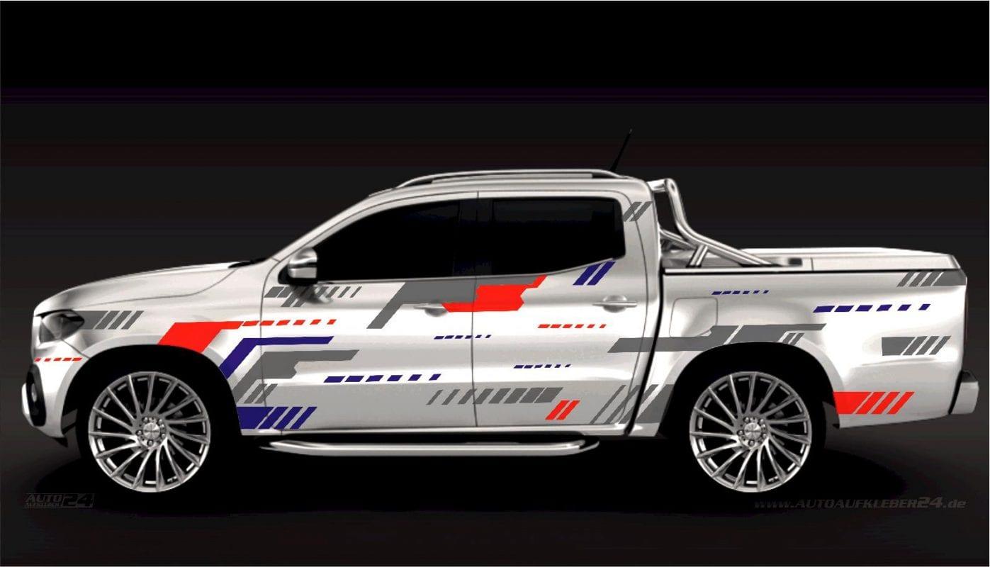 Geometrie Design #035 - Aufkleber / Seitenaufkleber / Autoaufkleber SUV Mercedes MB x-Klasse X Klasse