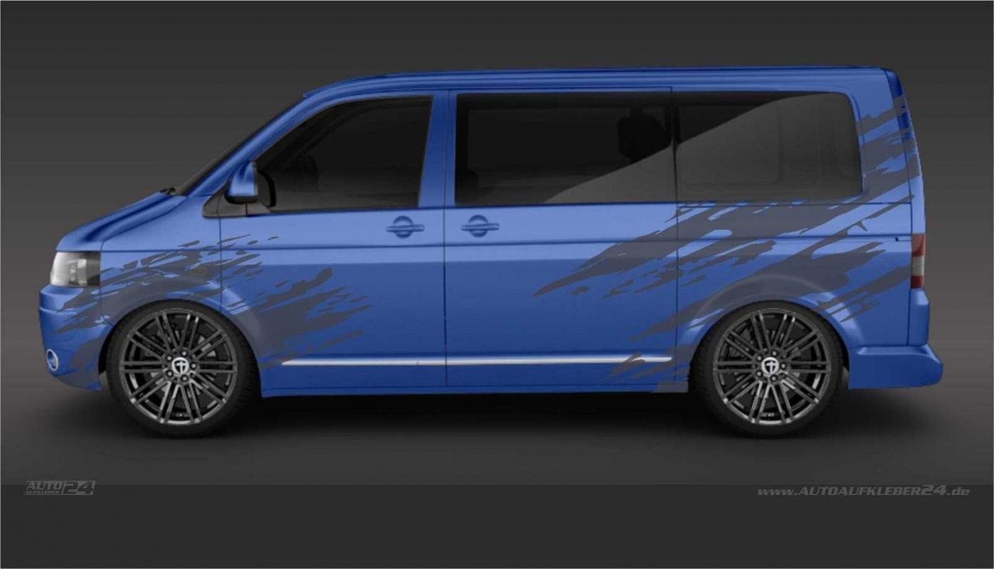 Brush Design #001 -Aufkleber / Seitenaufkleber / Autoaufkleber Volkswagen VW Transporter T5 T6