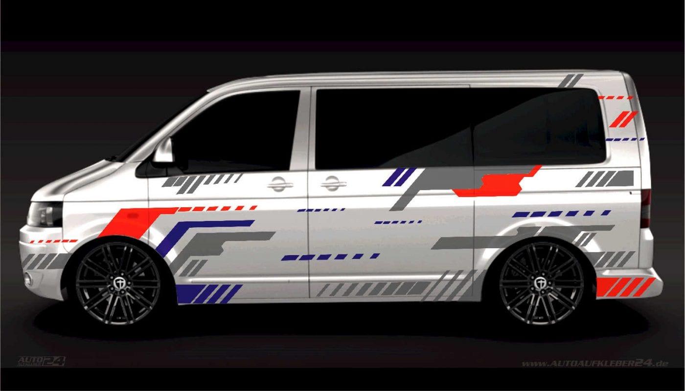 Geometrie Design #035 -Aufkleber / Seitenaufkleber / Autoaufkleber Volkswagen VW Transporter T4 T5