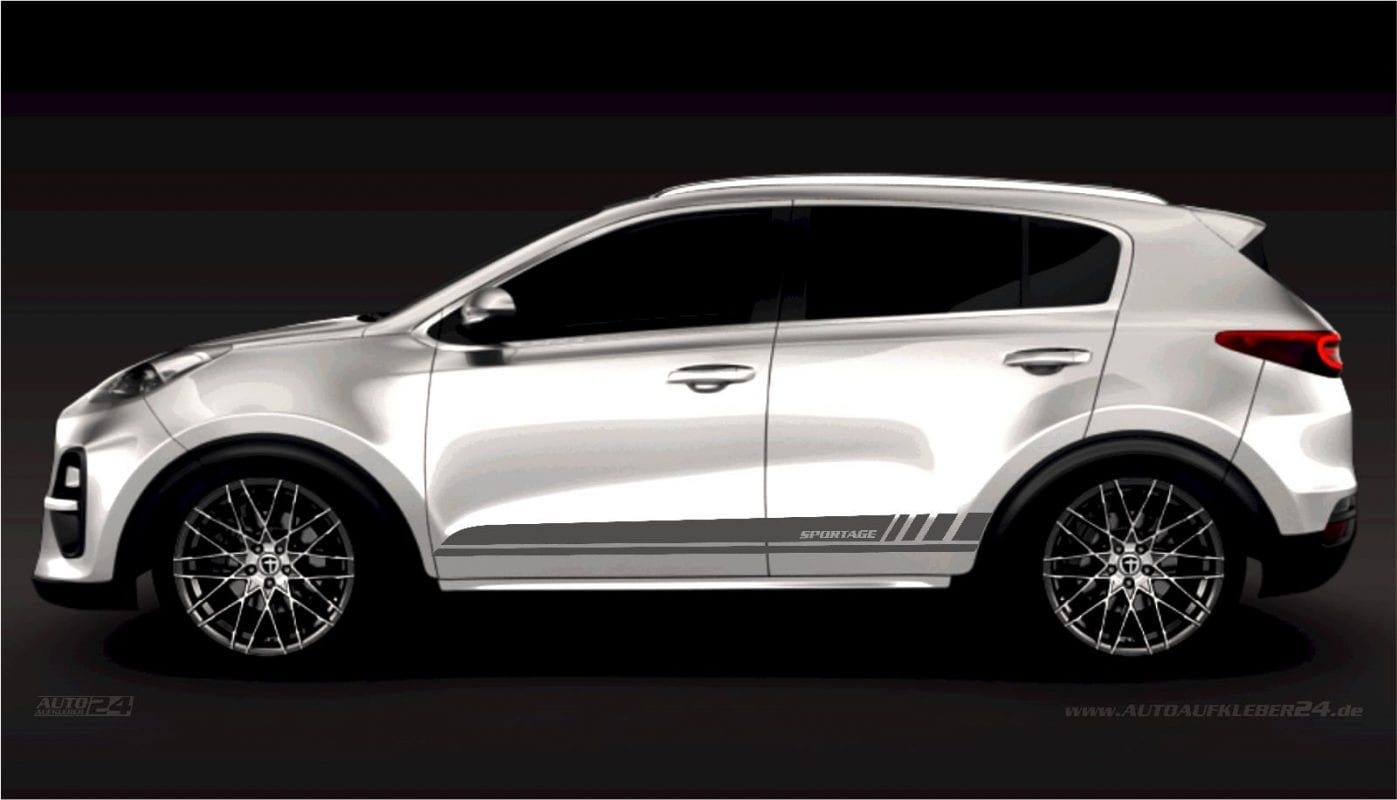 Seitenstreifen Zierstreifen - Aufkleber / Seitenaufkleber / Autoaufkleber SUV Kia Sportage