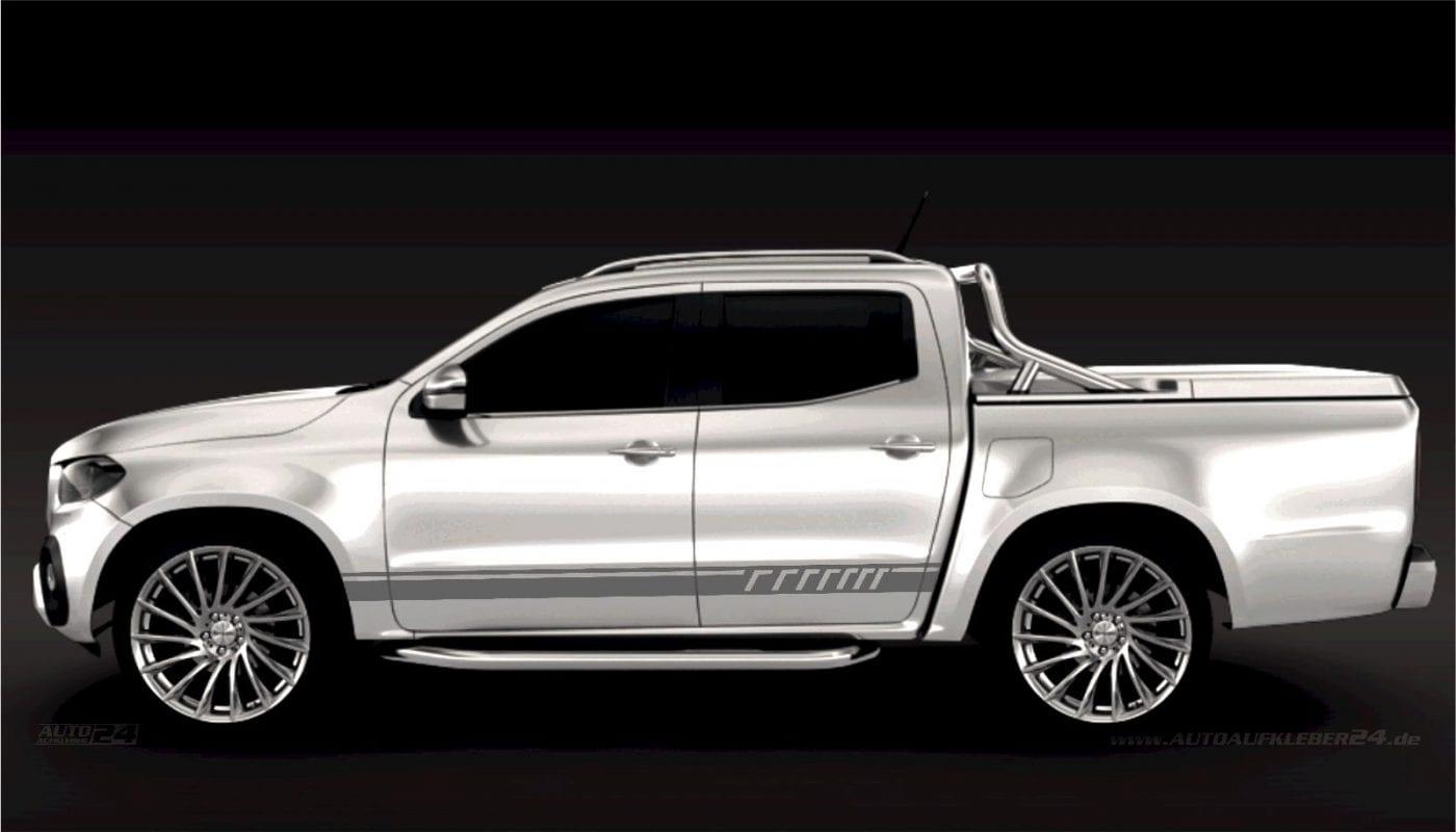 Seitenstreifen Zierstreifen - Aufkleber / Seitenaufkleber / Autoaufkleber SUV Mercedes MB X Klasse