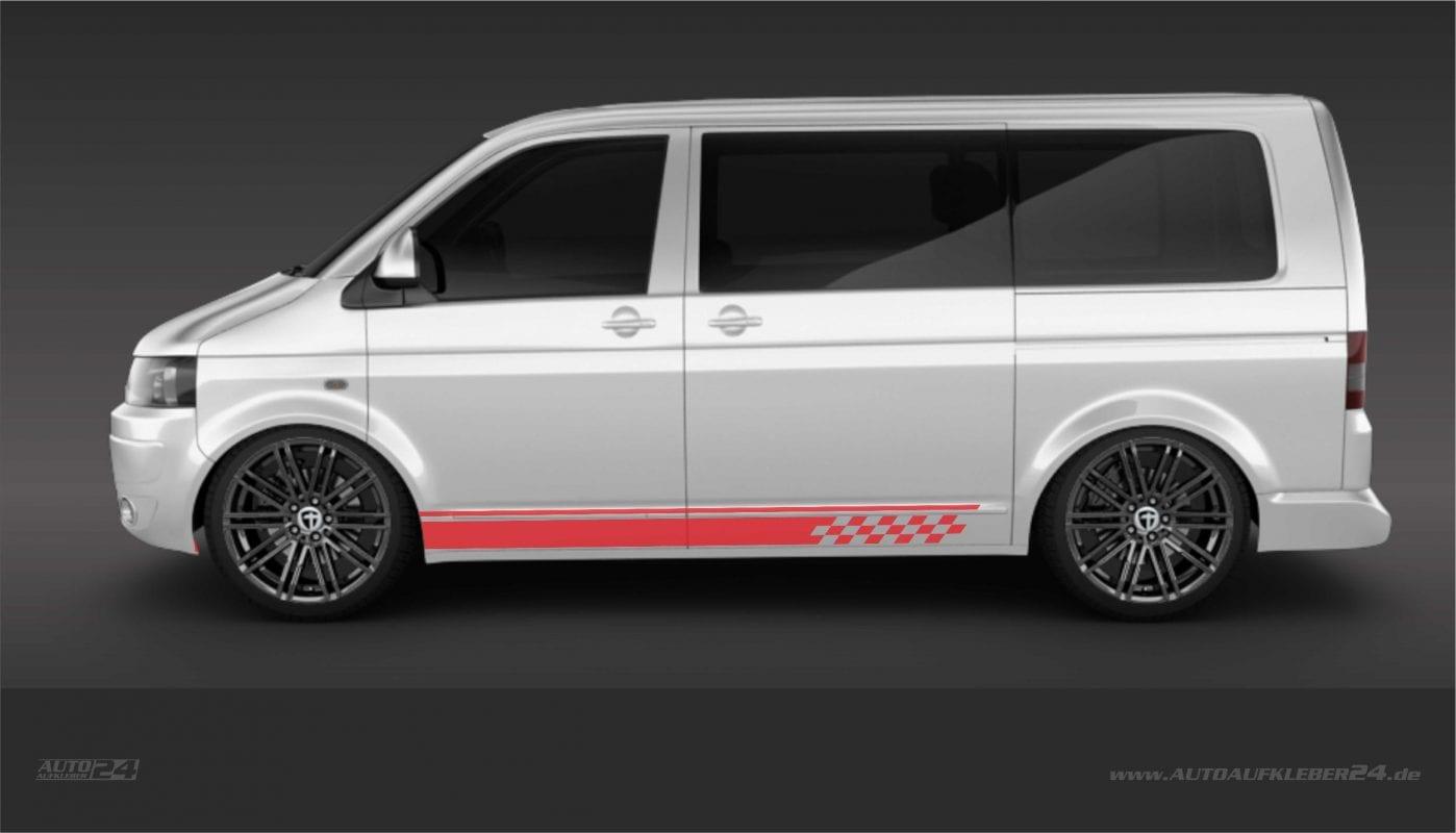 Seitenstreifen / Seitenaufkleber / Autoaufkleber Aufkleber- Volkswagen VW Transporter