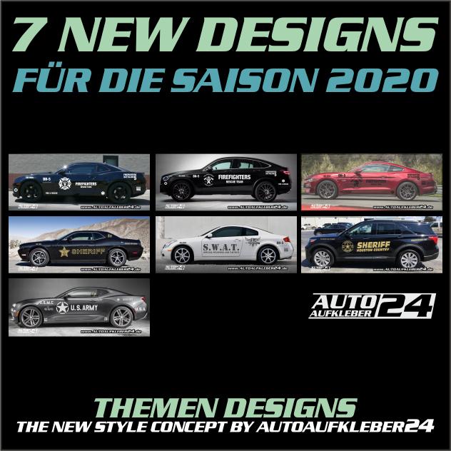 Autoaufkleber Aufkleber für die Saison 2020 Designfolien