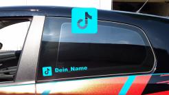 Dein TikTok Name als Aufkleber fürs Auto