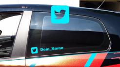 Dein Twitter Name als Aufkleber fürs Auto